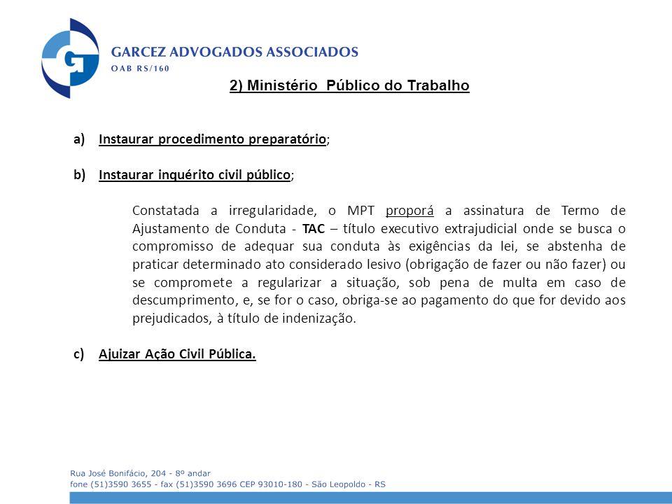 2) Ministério Público do Trabalho