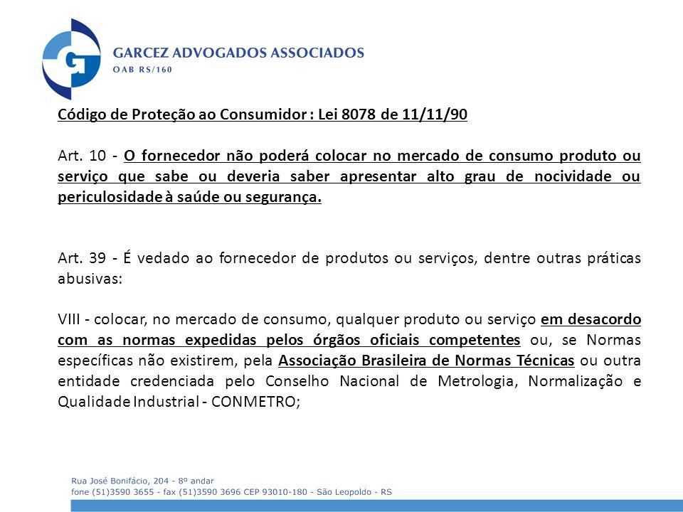 Código de Proteção ao Consumidor : Lei 8078 de 11/11/90