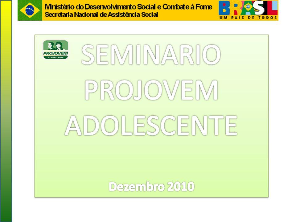 SEMINARIO PROJOVEM ADOLESCENTE