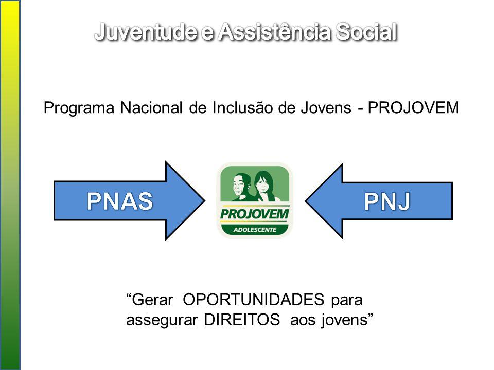 PNAS PNJ Juventude e Assistência Social