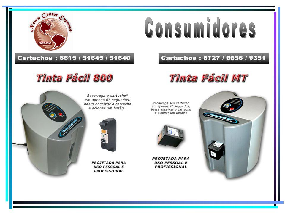 Consumidores Cartuchos : 6615 / 51645 / 51640