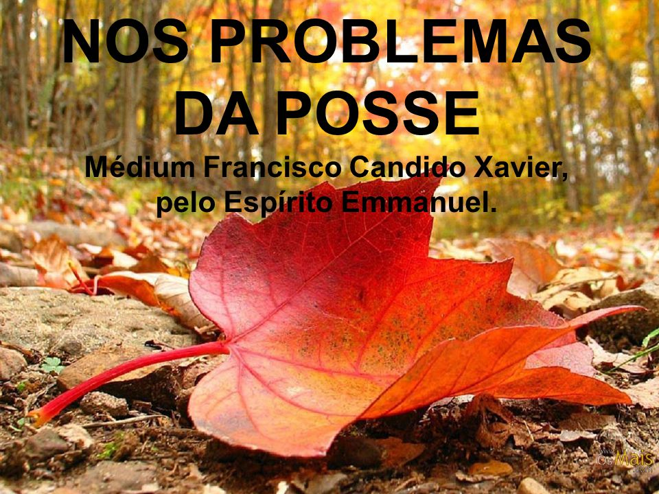 Médium Francisco Candido Xavier, pelo Espírito Emmanuel.