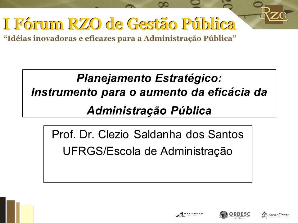 Prof. Dr. Clezio Saldanha dos Santos UFRGS/Escola de Administração