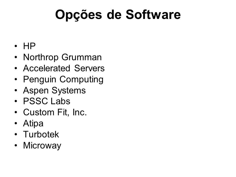 Opções de Software HP Northrop Grumman Accelerated Servers