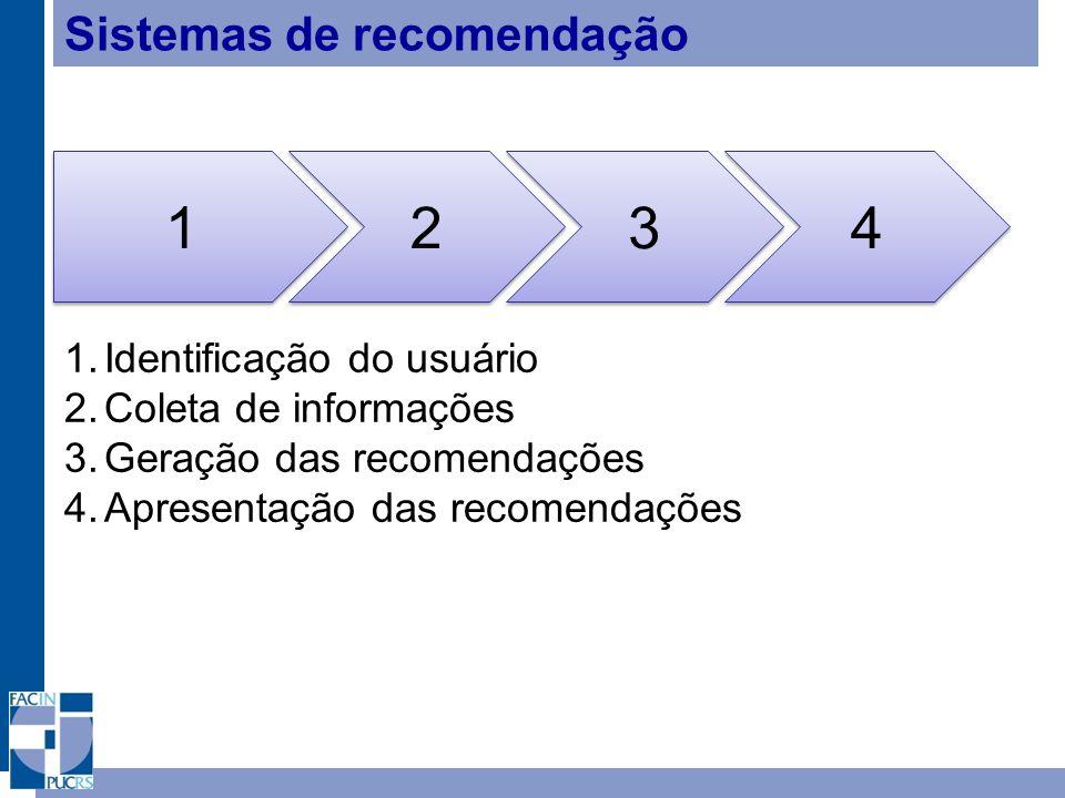 1 2 3 4 Sistemas de recomendação Identificação do usuário