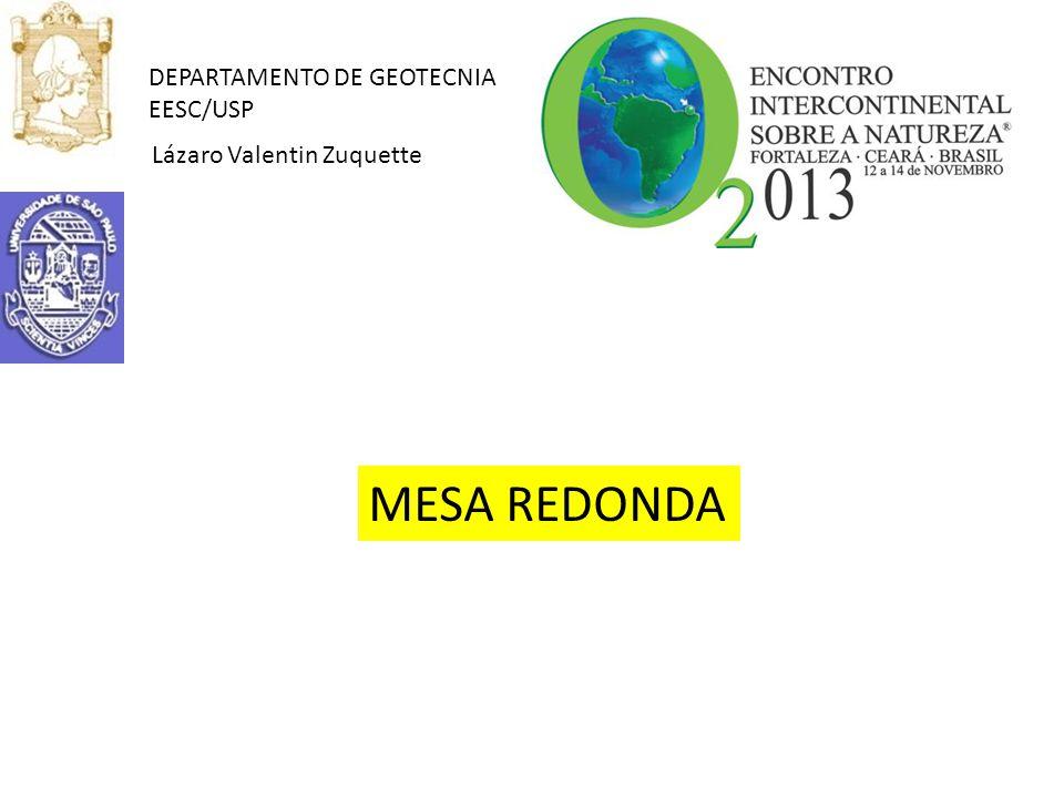 MESA REDONDA DEPARTAMENTO DE GEOTECNIA EESC/USP