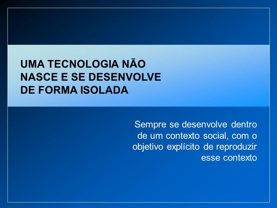 UMA TECNOLOGIA NÃO NASCE E SE DESENVOLVE DE FORMA ISOLADA