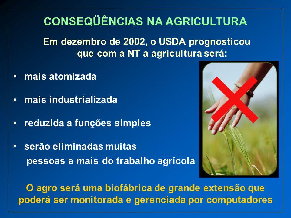 CONSEQÜÊNCIAS NA AGRICULTURA