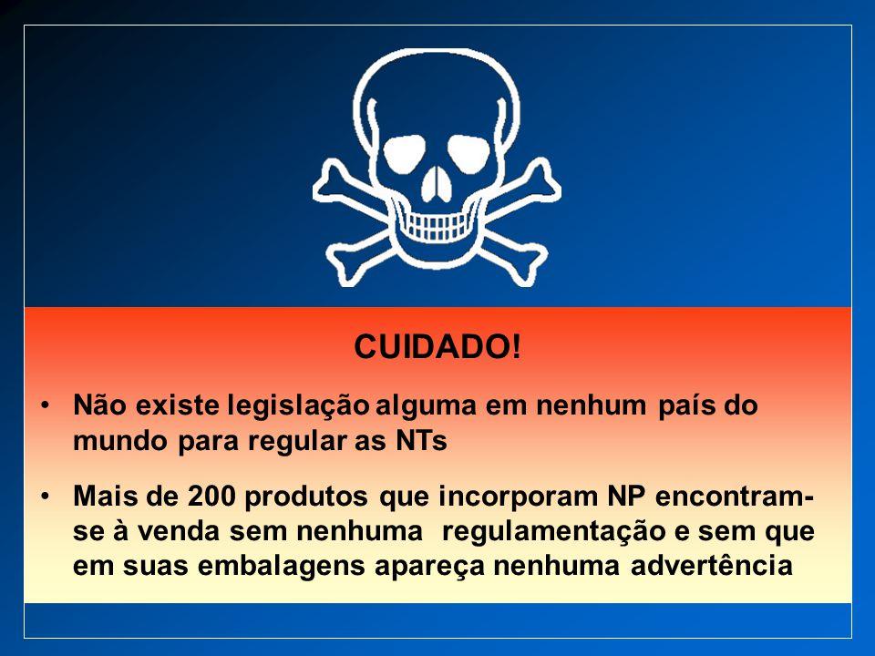 CUIDADO! Não existe legislação alguma em nenhum país do mundo para regular as NTs.