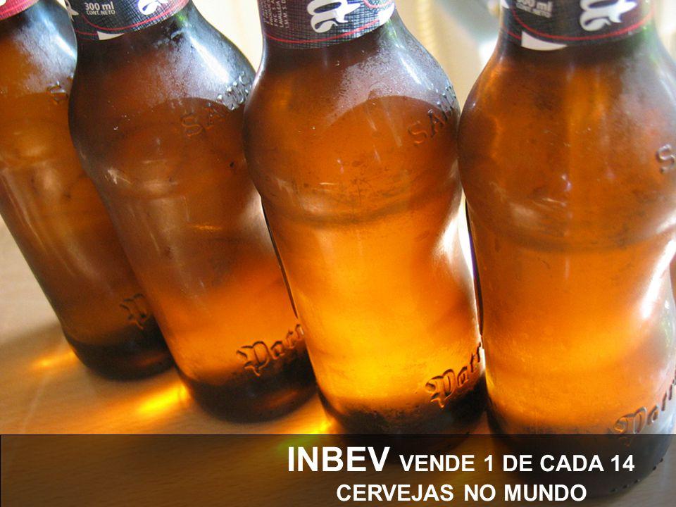 INBEV VENDE 1 DE CADA 14 CERVEJAS NO MUNDO