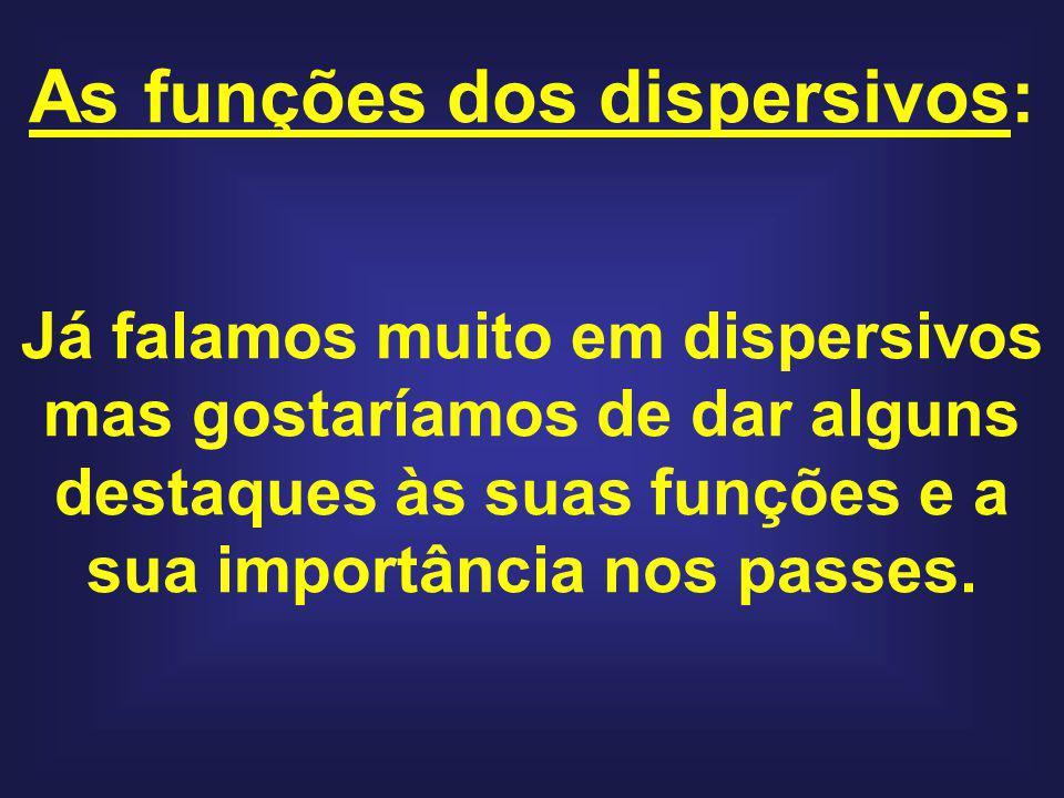 As funções dos dispersivos: