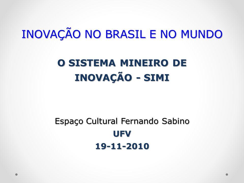 INOVAÇÃO NO BRASIL E NO MUNDO