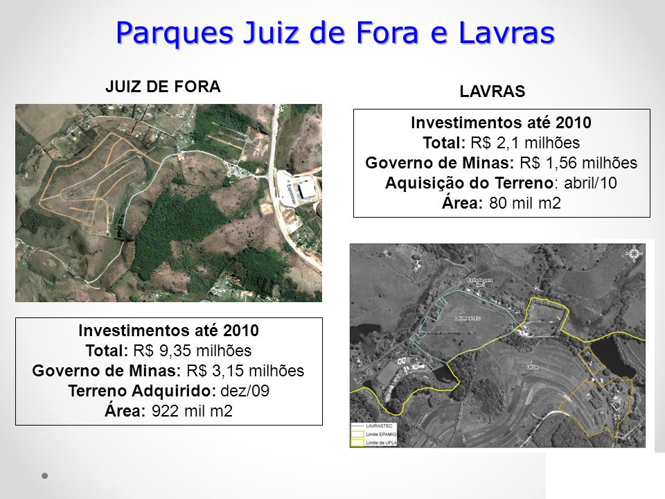 Parques Juiz de Fora e Lavras
