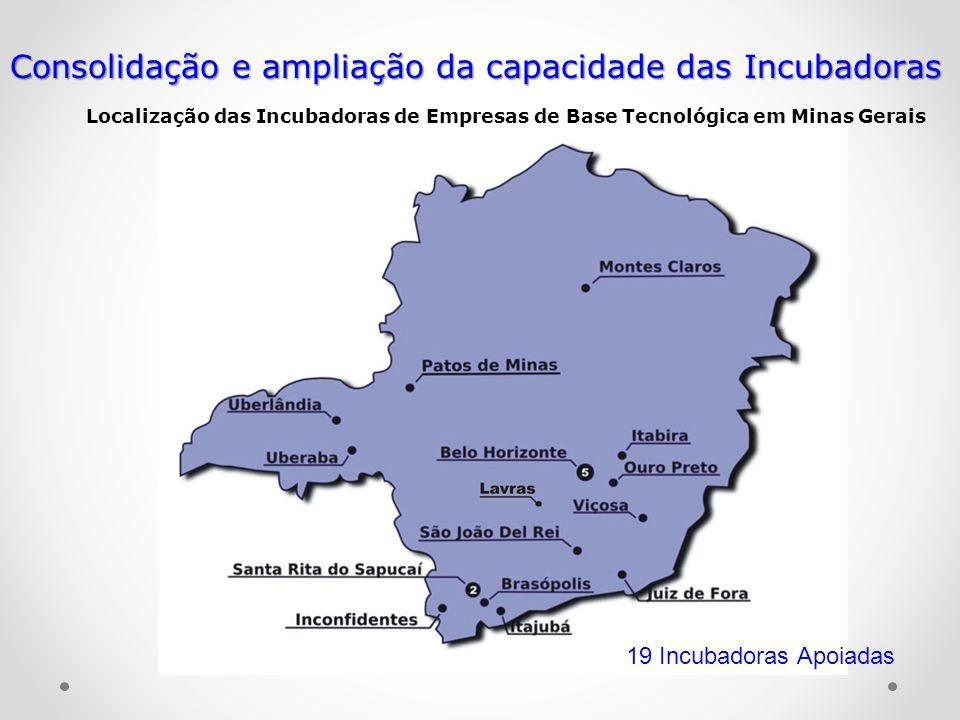 Consolidação e ampliação da capacidade das Incubadoras