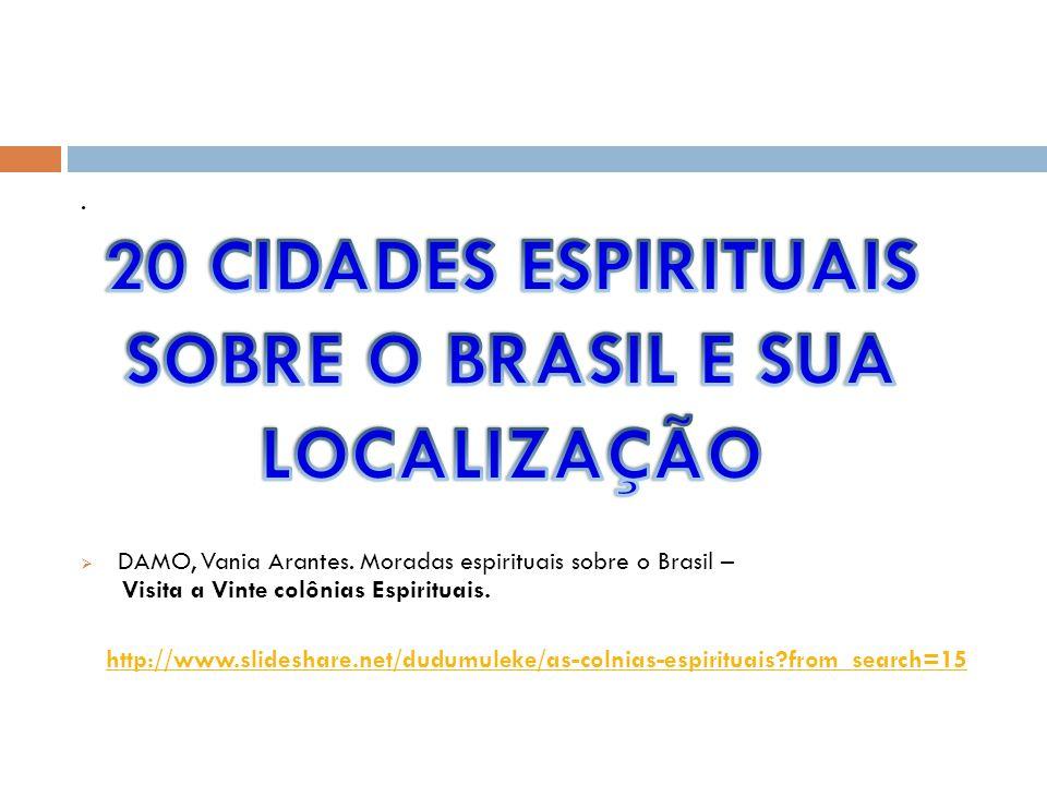 20 CIDADES ESPIRITUAIS SOBRE O BRASIL E SUA LOCALIZAÇÃO