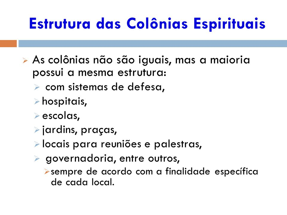 Estrutura das Colônias Espirituais