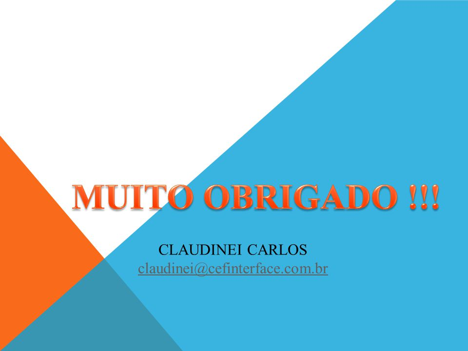 CLAUDINEI CARLOS claudinei@cefinterface.com.br