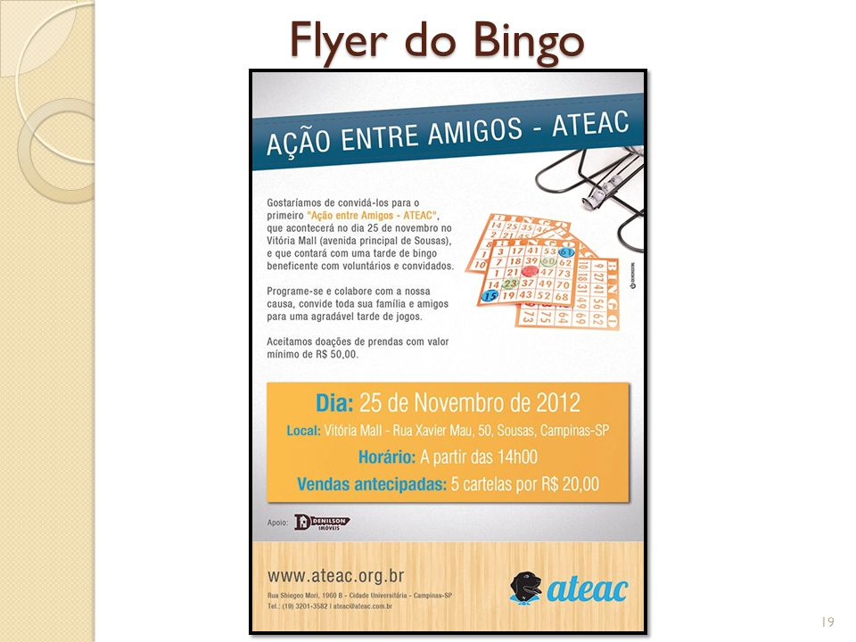 Flyer do Bingo