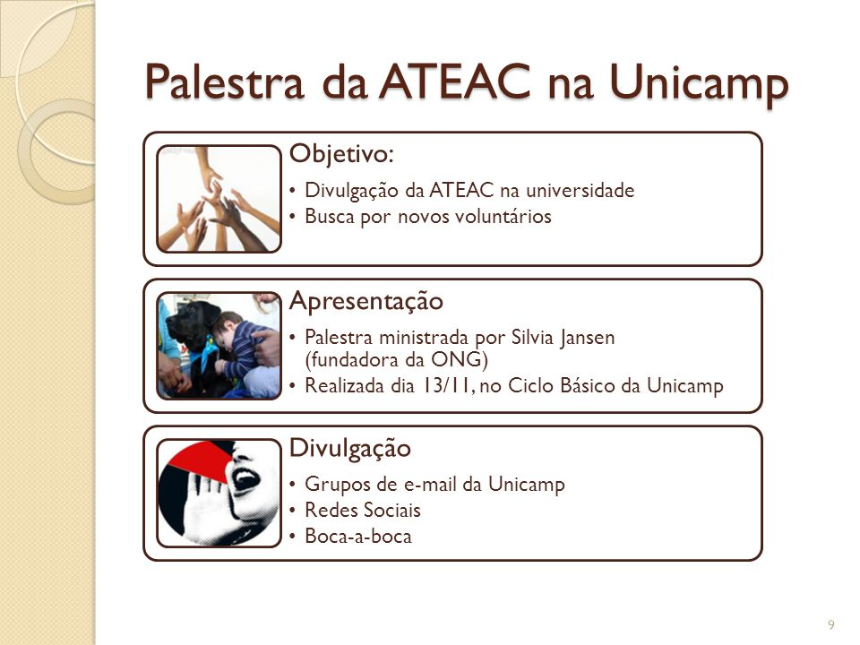 Palestra da ATEAC na Unicamp