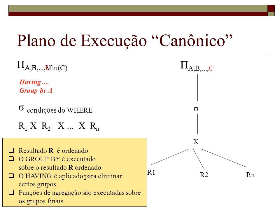Plano de Execução Canônico
