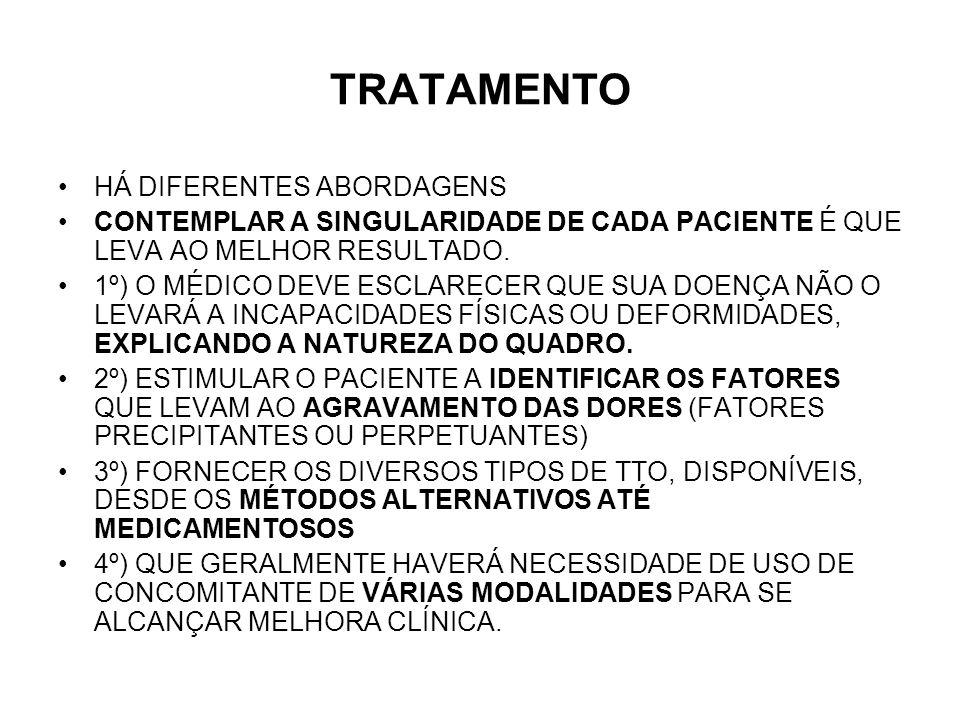 TRATAMENTO HÁ DIFERENTES ABORDAGENS