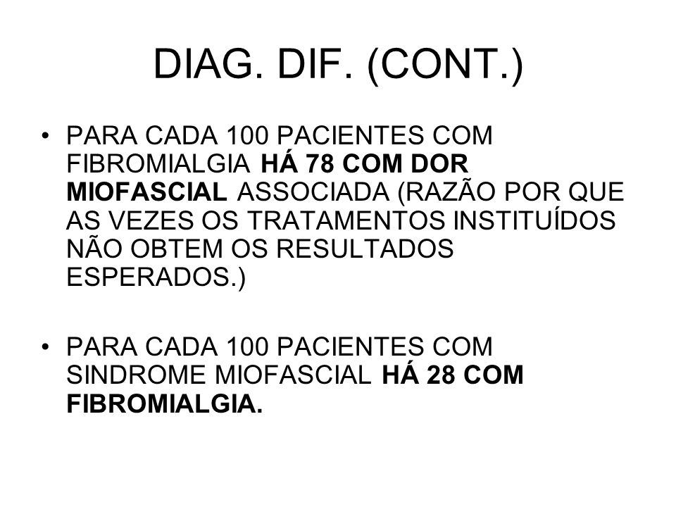 DIAG. DIF. (CONT.)