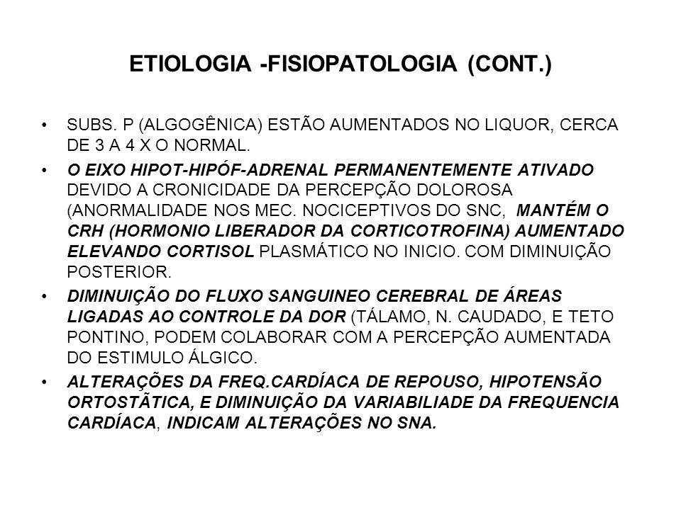 ETIOLOGIA -FISIOPATOLOGIA (CONT.)