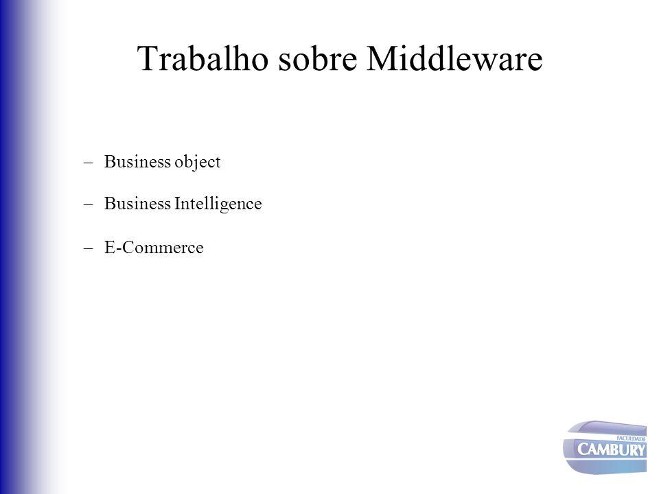 Trabalho sobre Middleware