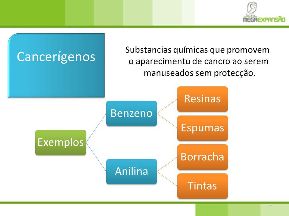Cancerígenos Substancias químicas que promovem