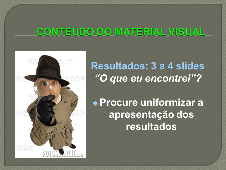 CONTEÚDO DO MATERIAL VISUAL