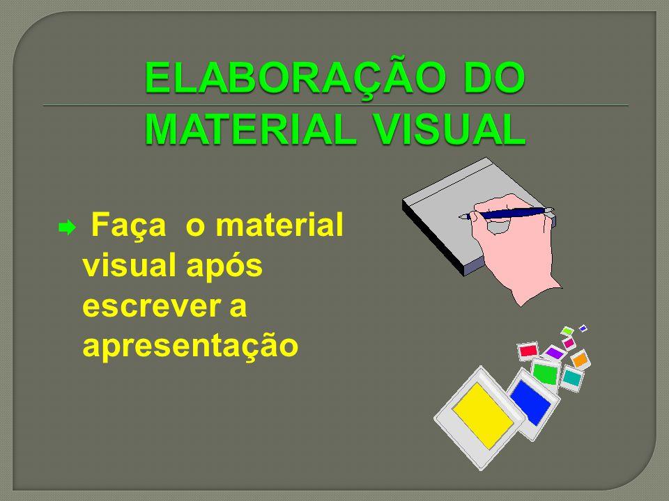 ELABORAÇÃO DO MATERIAL VISUAL