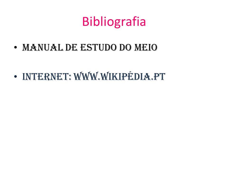 Bibliografia Manual de Estudo do Meio Internet: WWW.Wikipédia.PT