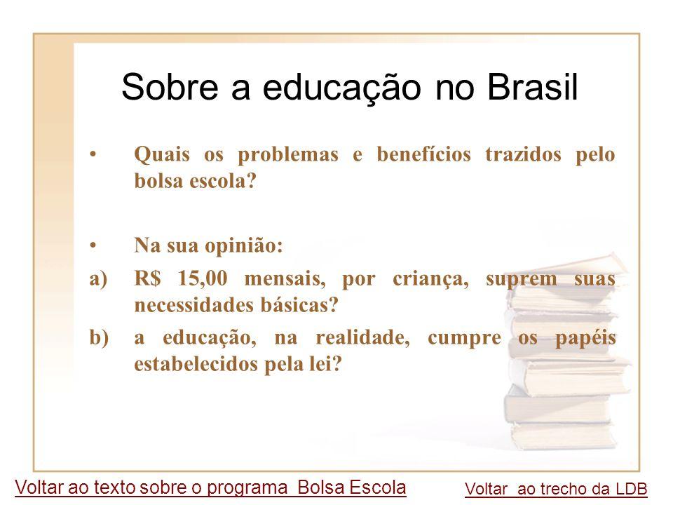 Sobre a educação no Brasil