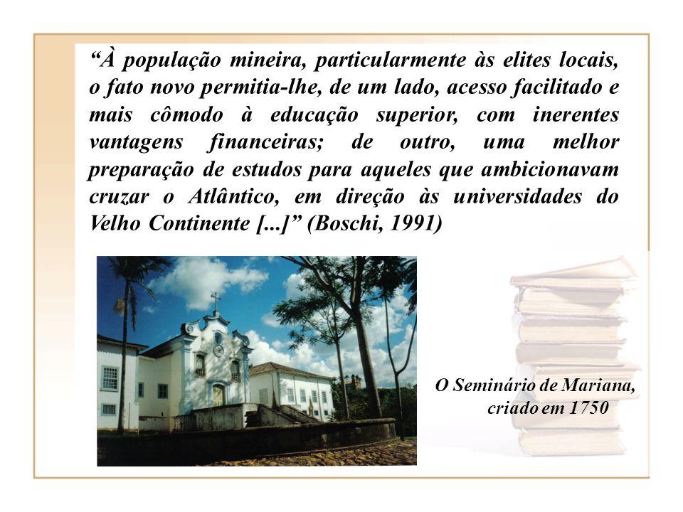 O Seminário de Mariana, criado em 1750