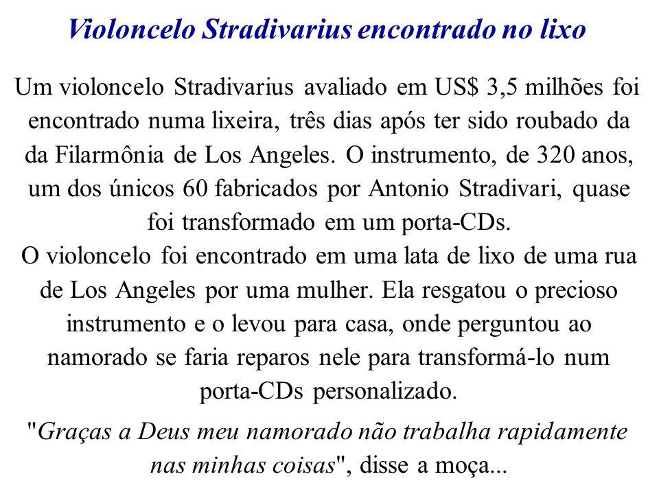 Violoncelo Stradivarius encontrado no lixo