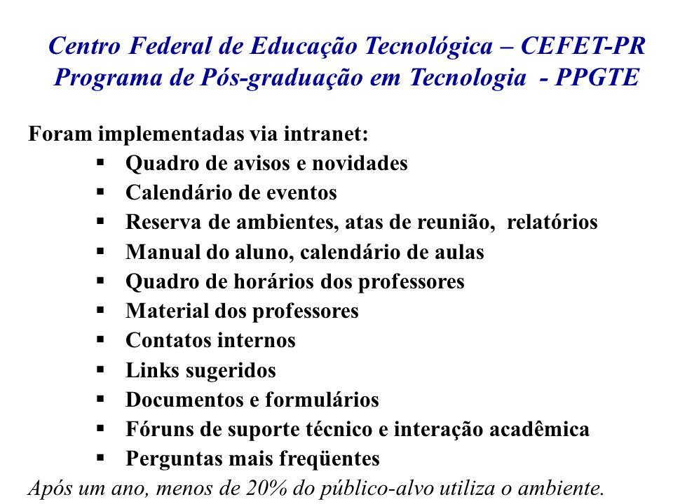 Centro Federal de Educação Tecnológica – CEFET-PR