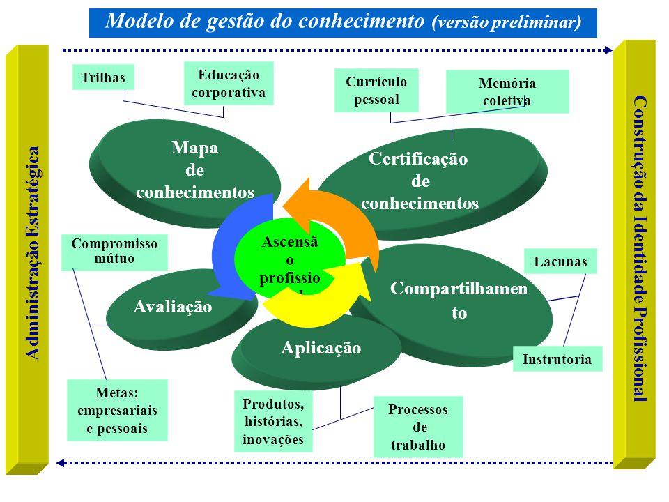 Modelo de gestão do conhecimento (versão preliminar)