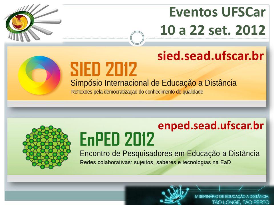 Eventos UFSCar 10 a 22 set. 2012 sied.sead.ufscar.br