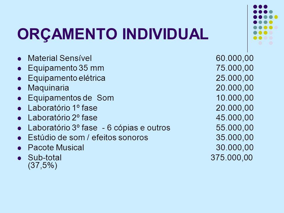 ORÇAMENTO INDIVIDUAL Material Sensível 60.000,00
