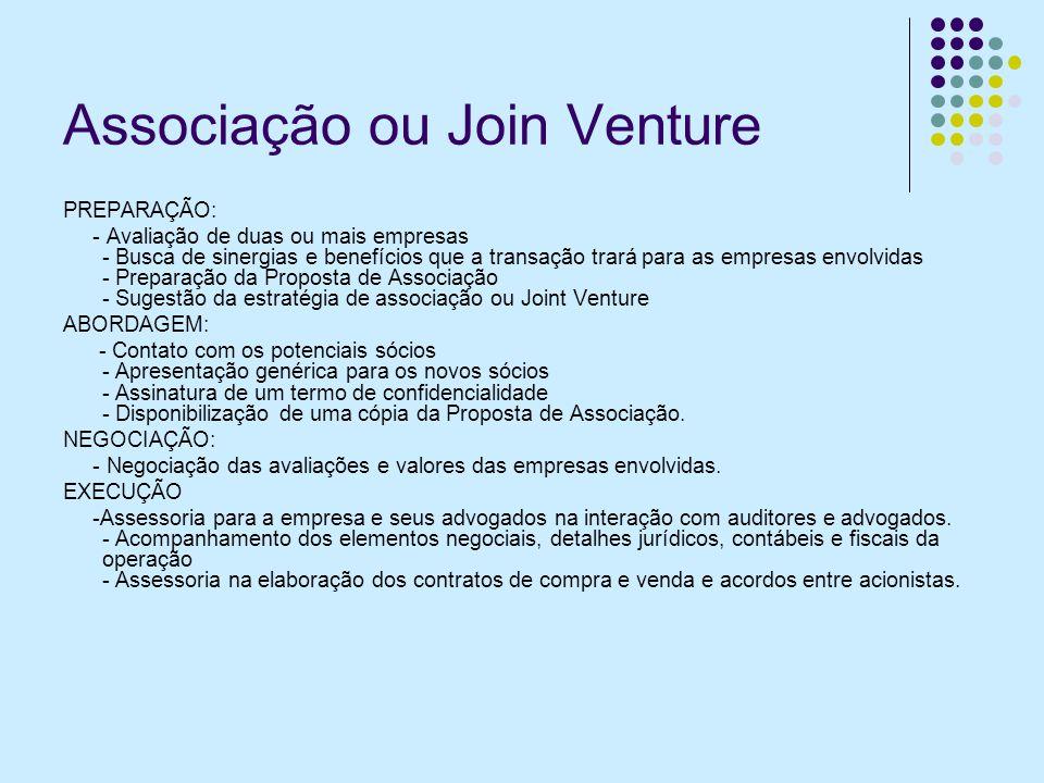Associação ou Join Venture