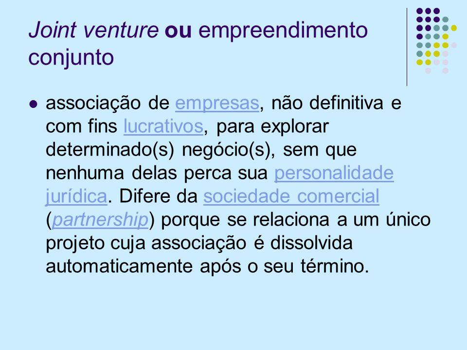 Joint venture ou empreendimento conjunto