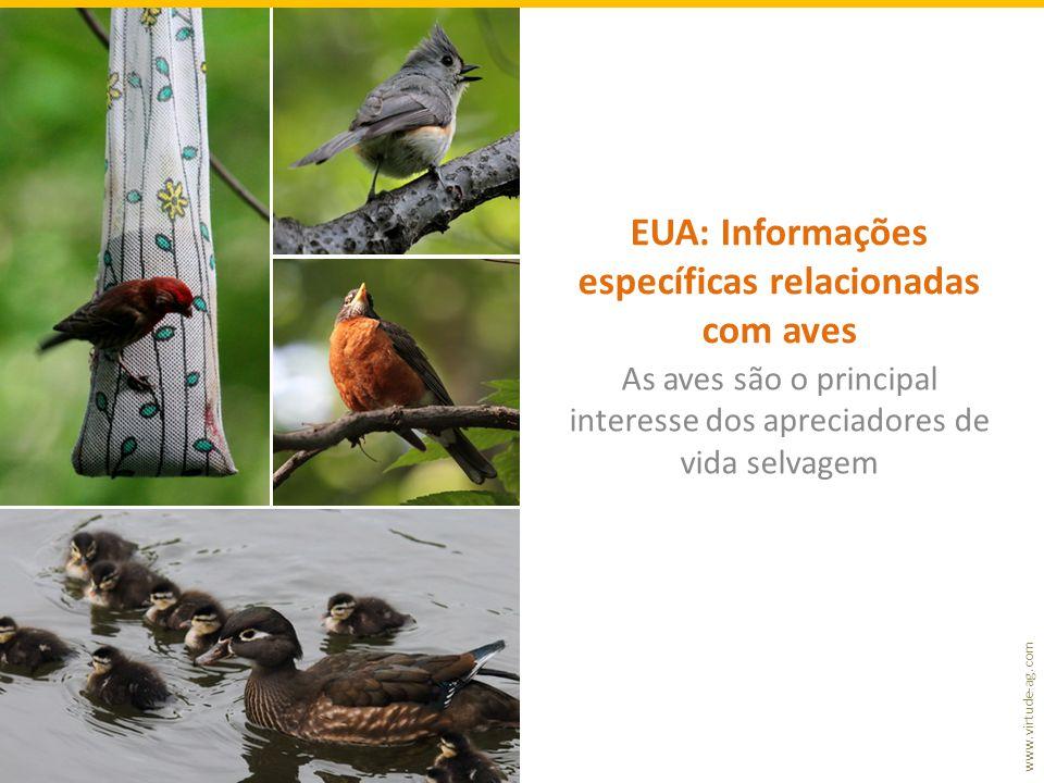 EUA: Informações específicas relacionadas com aves