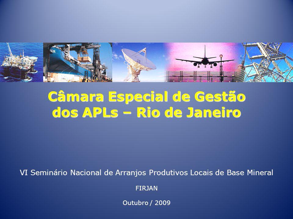 Câmara Especial de Gestão dos APLs – Rio de Janeiro