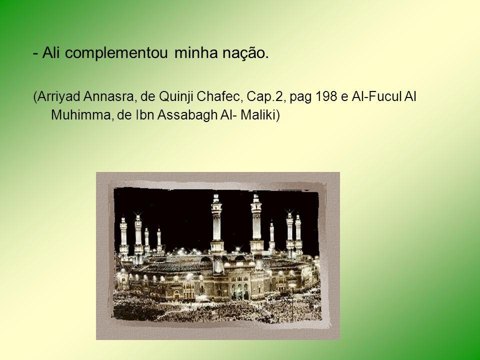 - Ali complementou minha nação.