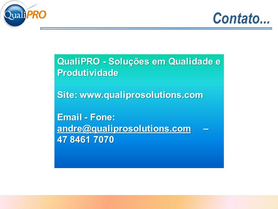 Contato... QualiPRO - Soluções em Qualidade e Produtividade
