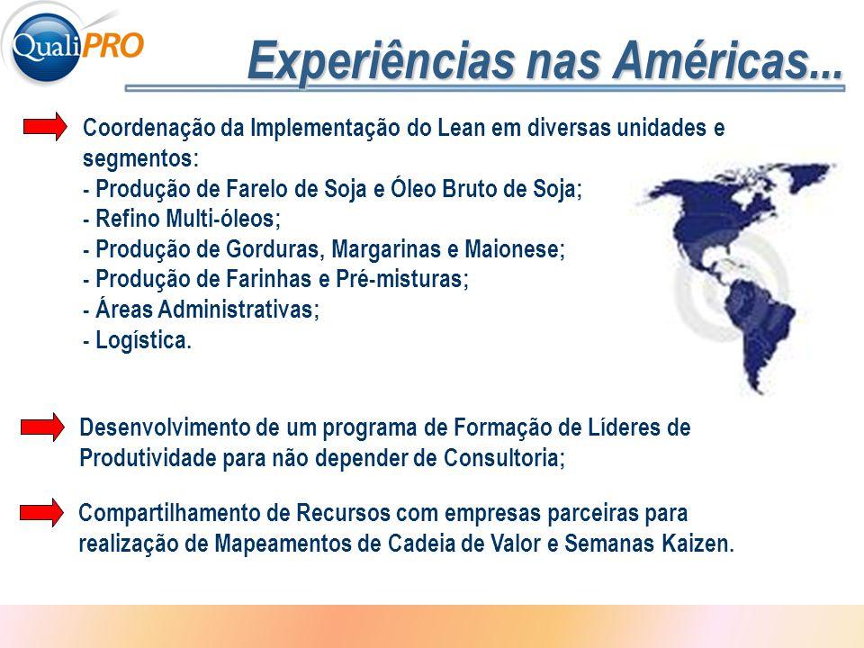 Experiências nas Américas...
