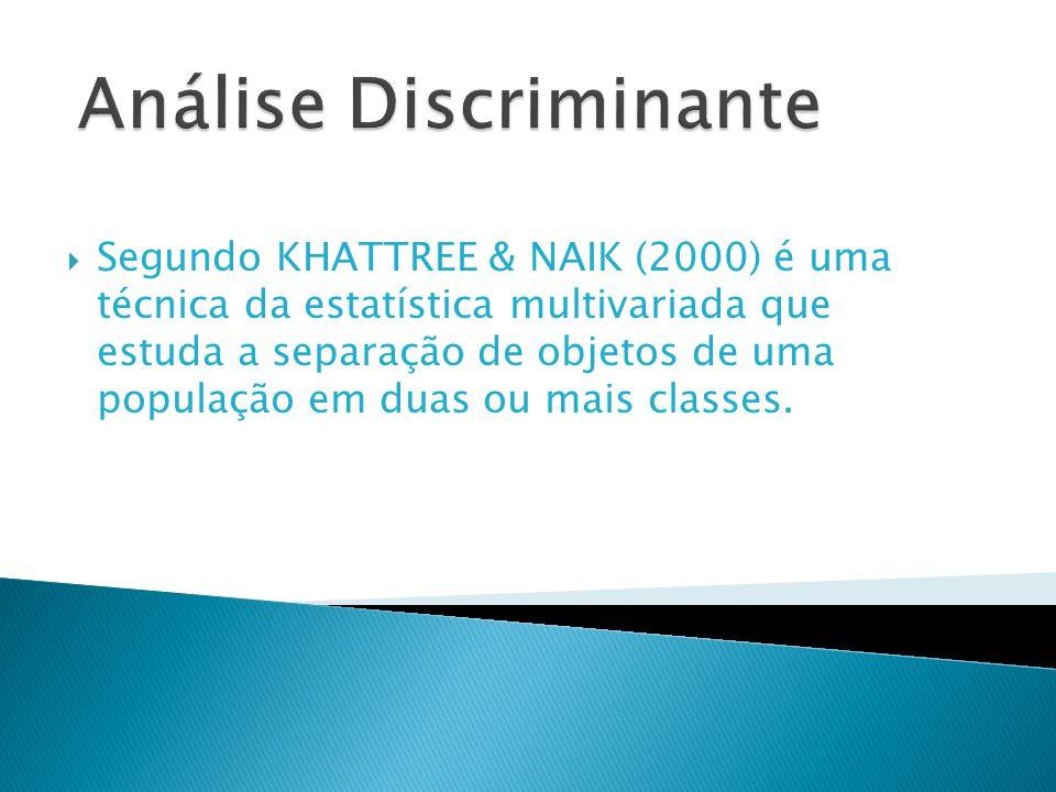 Análise Discriminante