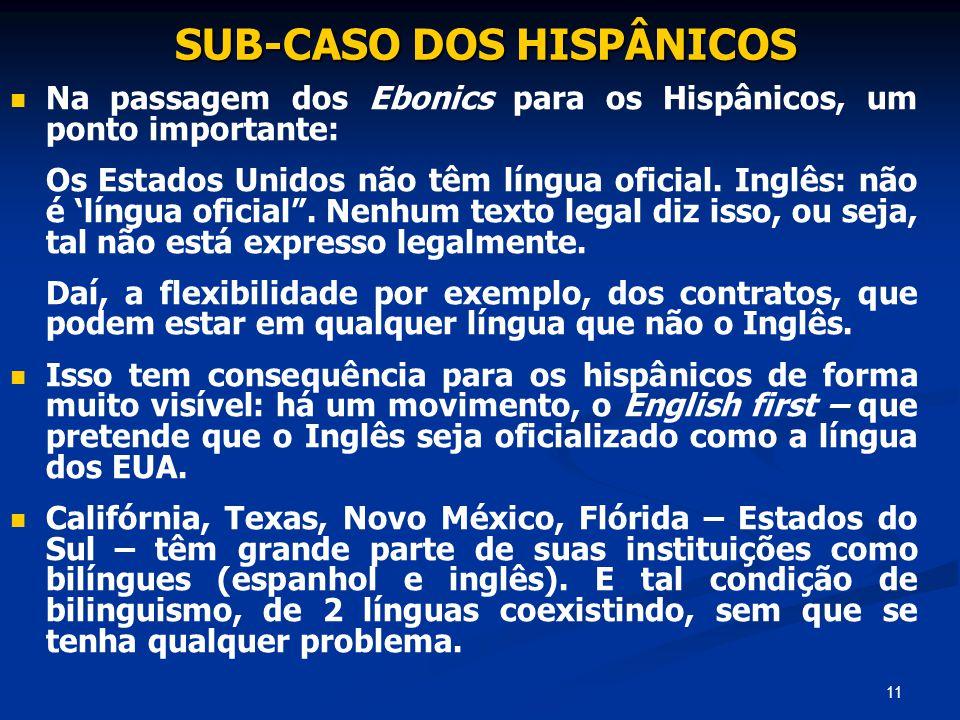 SUB-CASO DOS HISPÂNICOS