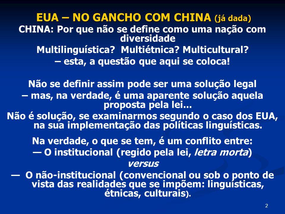 EUA – NO GANCHO COM CHINA (já dada)