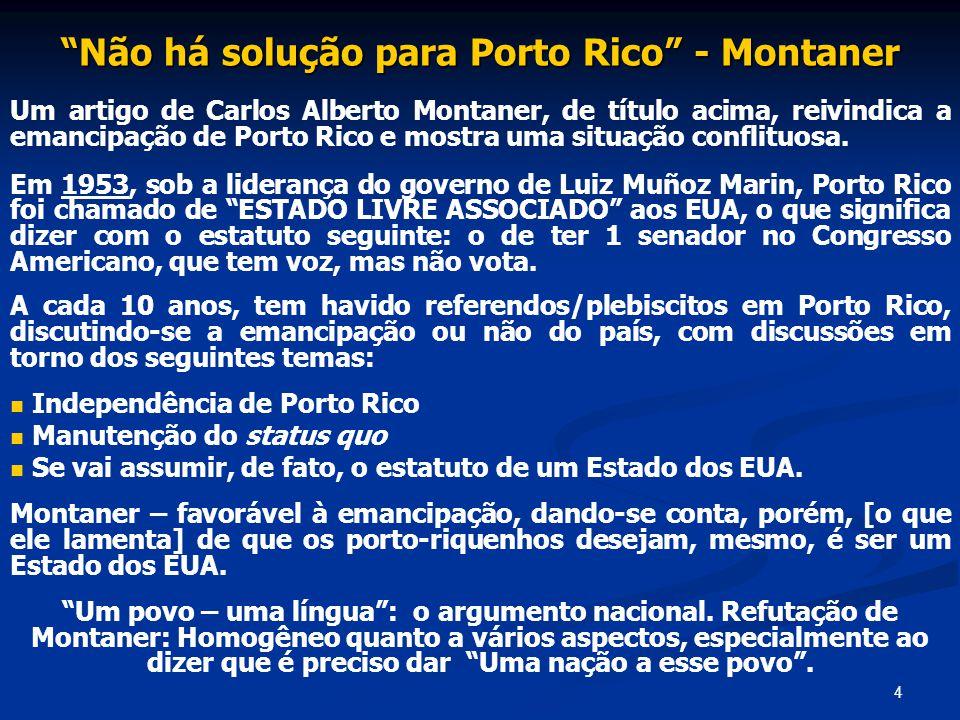 Não há solução para Porto Rico - Montaner